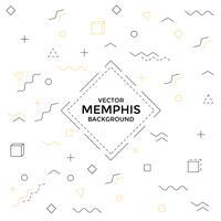 Memphis bakgrund med geometriska former vektor