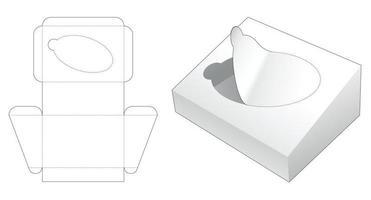 Reißverschluss geneigte Verpackung gestanzte Vorlage vektor