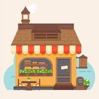 Vektor-buntes Bäckerei-Gebäude vektor