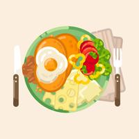 Vektor-Frühstück-Illustration vektor