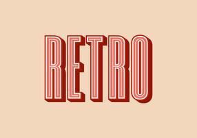 Retro-Typografie-Vektor-Illustration vektor