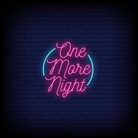 en natt natt neon skyltar stil text vektor