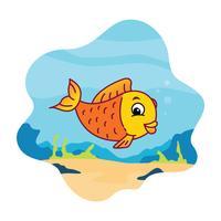 Cartoon Fisch Vektor-Illustration vektor