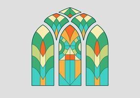 Buntglas-Fenster-Vektor-Illustration vektor