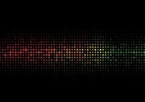 abstrakt färgglada halvton konsistens prickar mönster på balck bakgrund. vektor