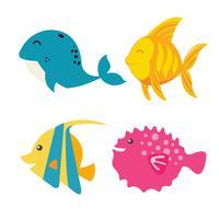 Tecknad fisk fiskillustration vektor