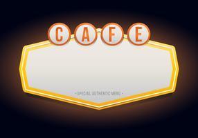 Vintage Cafe oder Restaurant Zeichen. Retro Vintage Cafe oder Restaurant Zeichen. vektor