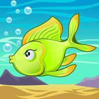 Tecknade fiskar vektor