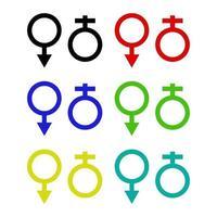 Geschlechtssymbol auf Hintergrund vektor