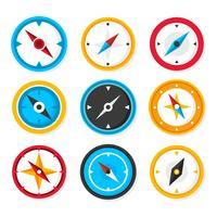 Kompass Sammlung Vektor