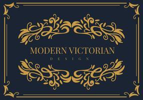Moderner viktorianischer Rahmen-Vektor vektor