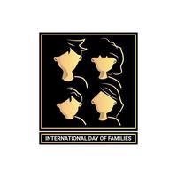 Silhouette Design Familie für internationalen Tag der Familien vektor