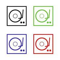 DJ-Mixer-Symbol auf Hintergrund vektor