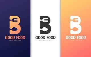 bokstaven b logotyp set