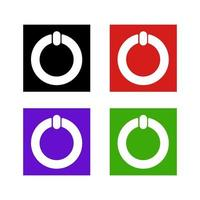 ikonen för strömbrytaren på bakgrunden vektor