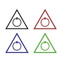 Ein- / Ausschalter-Symbol im Hintergrund