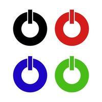ikonen för strömbrytaren på bakgrunden