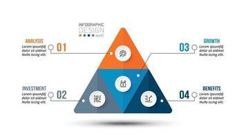 Infografik-Vorlage für den Geschäftsablauf der Pyramide.