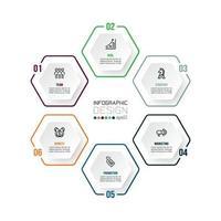 Infografik-Vorlage für Geschäfts- oder Marketingdiagramme. vektor
