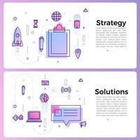 bannerillustration med ikoner för affärsöversikt