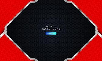 rött abstrakt modernt företags ramkoncept med silvereffekt