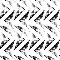 nahtloses Vektormuster der schwarzen Linien lokalisiert auf weißem Hintergrund.