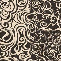 Satz nahtlose abstrakte Muster in beige Farben.