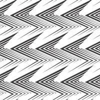 nahtloses Vektormuster von unebenen schwarzen Linien, die mit einem Stift in Form von Ecken oder Zickzack gezeichnet werden.