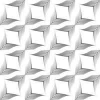 nahtloses Vektormuster von unebenen Linien, die von einem Stift in Form von Ecken gezeichnet werden.