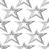 nahtloses Vektormuster der schwarzen Linien in Form eines Sterns lokalisiert auf weißem Hintergrund.