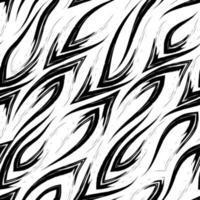 nahtloses Vektorschwarzlinienmuster mit scharfen Ecken, die glatt ineinander fließen, isoliert auf einem weißen Hintergrund.