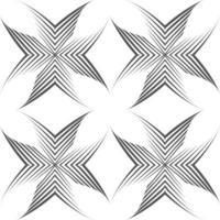 nahtloses Vektormuster von unebenen Linien, die mit einem Stift in Form von Ecken oder Kreuzen gezeichnet wurden.