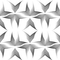 sömlös vektormönster av ojämna linjer ritade av en penna i form av hörn. vektor