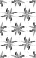 nahtloses Vektormuster von unebenen Linien, die mit einem Stift in Form von Ecken oder Rauten gezeichnet wurden.