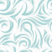 nahtlose Vektortextur eines Wirbels von Wellen oder Strömen der türkisfarbenen Pastellfarbe lokalisiert auf einem weißen Hintergrund.