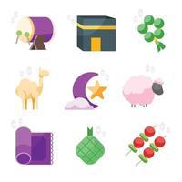 eid al adha ikonuppsättning