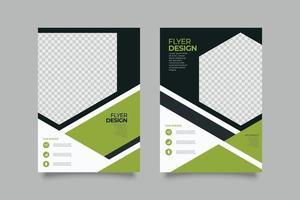 Webinar Erdton Flyer Vorlage mit Formen vektor