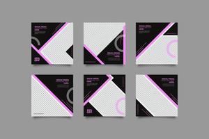 schwarze Webinar Business Flyer Vorlage mit geometrischen Formen vektor