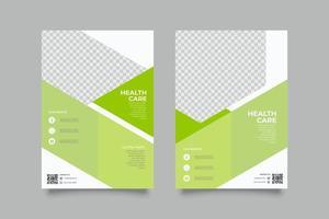 Webinar Kalk Flyer Vorlage mit Formen vektor