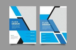 Webinar geometrische Flyer Vorlage mit Formen vektor