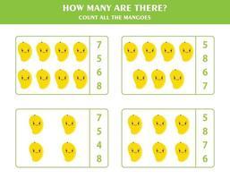 Zählspiel für Kinder vektor