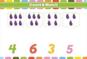Zählspiel für Kinder im Vorschulalter vektor