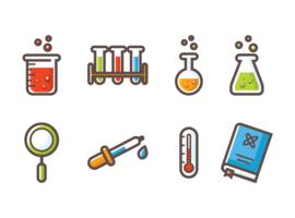 Chemie-Ikonen-Vektor