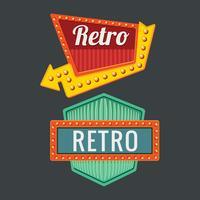 Vintage skyltar mall Set med amerikansk design stil vektor