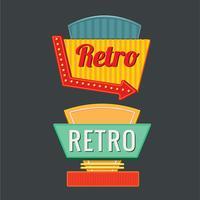 Vintage oder Retro Zeichen Vorlagensatz vektor