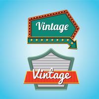 Vintage Zeichen Vorlage Set mit amerikanischen Design-Stil vektor