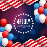 glad 4 juli Amerika självständighetsdagen firande vektor