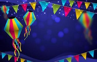 festa junina festival bakgrundsdesign vektor