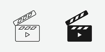 Klappervektor-Symbol für Website und mobile App vektor