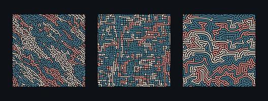 samling av turing abstrakta sömlösa mönster. vektor
